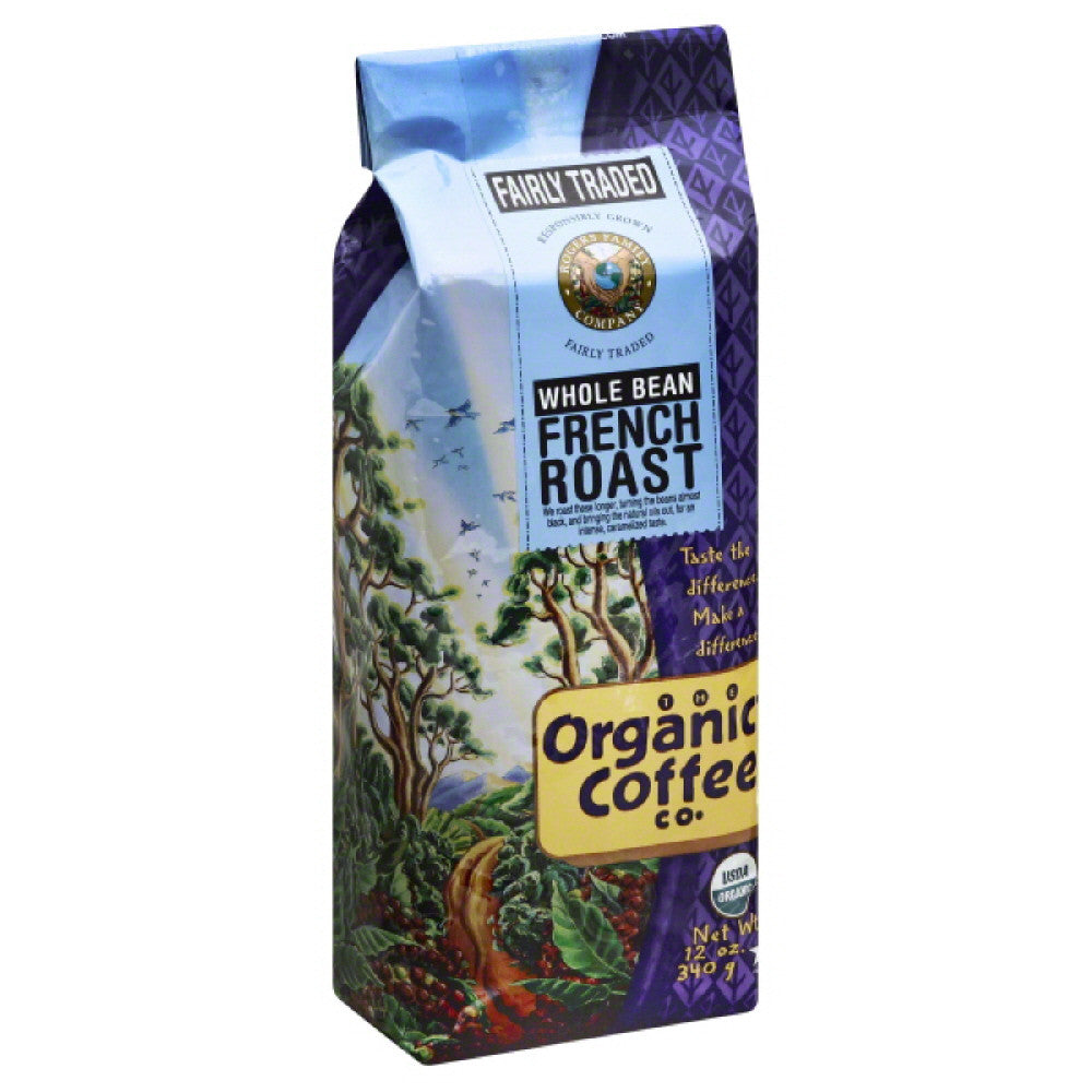 Organic Coffee French Roast Whole Bean Coffee, 12 Oz (Pack of 6)