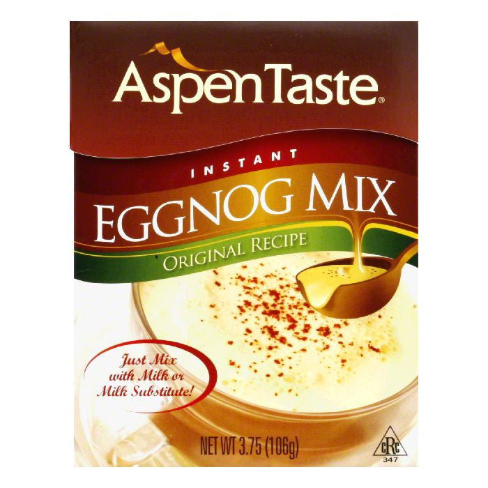 Aspen Taste Instant Eggnog Mix, 3.75 Oz (Pack of 24)