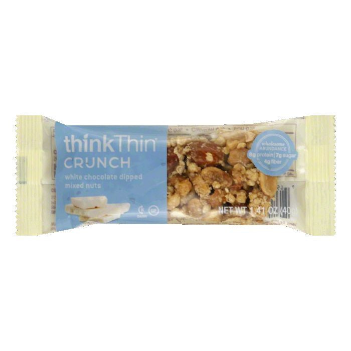 thinkThin Gluten Free Mixed Nuts & White Chocolate Bar, 1.41 OZ (Pack of 10)