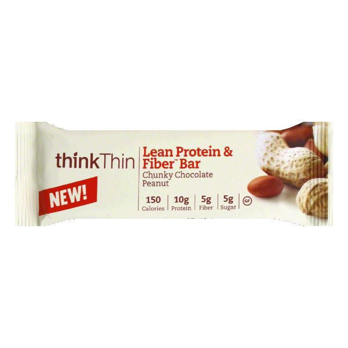 thinkThin Chunky Chocolate Peanut Protein Bar, 1.41 Oz (Pack of 10)