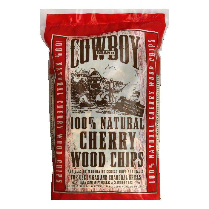 Cowboy Charcoal Cherry Wood Chips, 2.94 LT (Pack of 6)