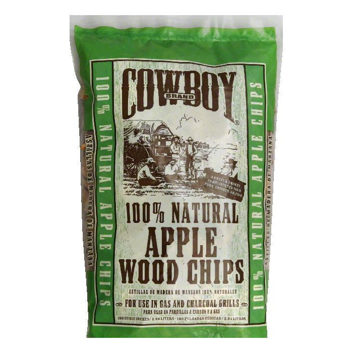Cowboy 100% Natural Apple Wood Chips, 180 in (Pack of 6)