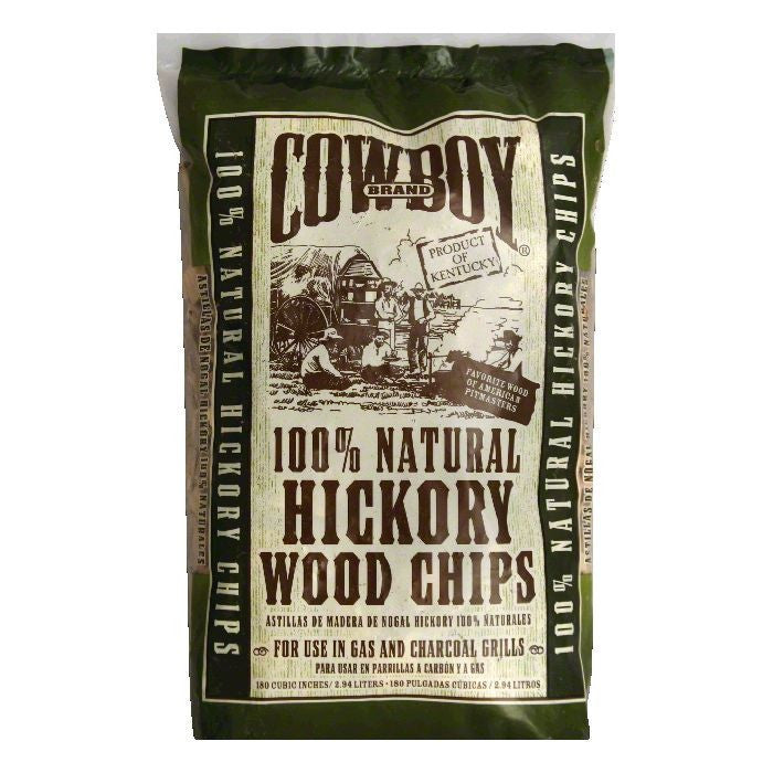 Cowboy Charcoal Hickory Wood Chips, 2.94 LT (Pack of 6)