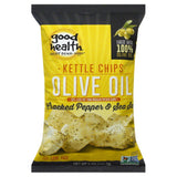 Good Health Cracked Pepper & Sea Salt Olive Oil Kettle Chips, 5 Oz (Pack of 12)