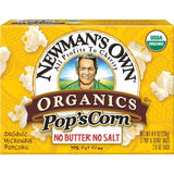 Newman's Own Organics Unsalted Organic Microwave Popcorn, 3 ea (Pack of 12)