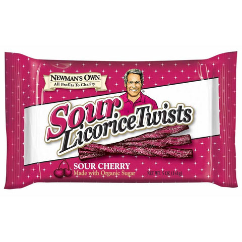 Newman's Own Licorice Twist Sour Cherry, 5 OZ (Pack of 15)