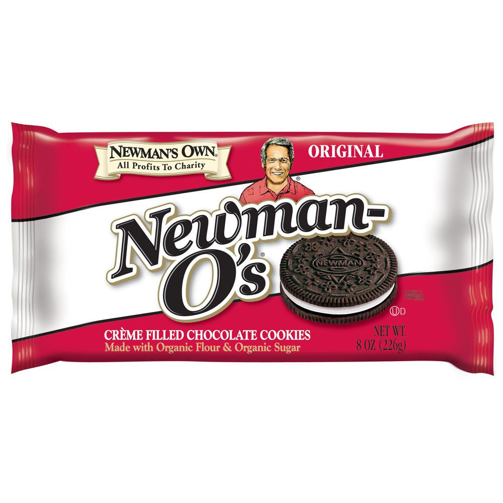 Newmans Own Original Newman-O's Cookies, 8 Oz (Pack of 6)