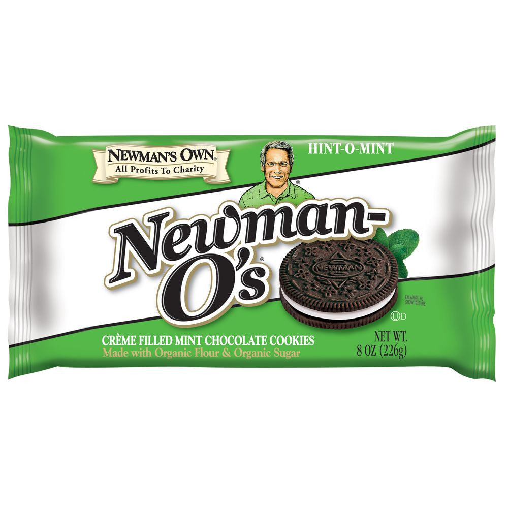 Newman-O's Hint-O-Mint Cookie, 8 OZ (Pack of 6)