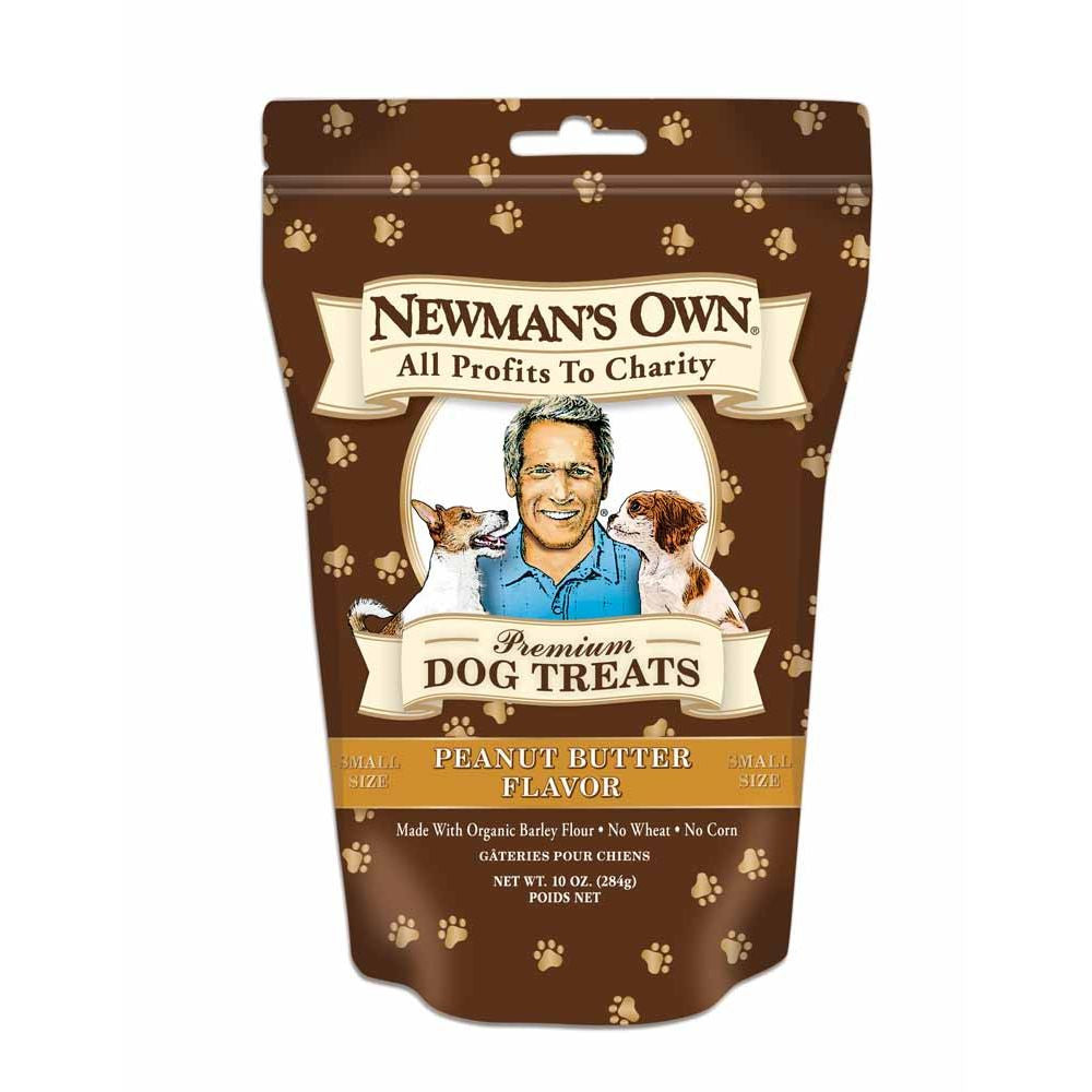 Newman's Own Organics Organic Peanut Butter Dog Treat, 10 OZ (Pack of 6)