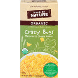 Back to Nature Organic Crazy Bugs Macaroni & Cheese Dinner 6 Oz  (Pack of 12)