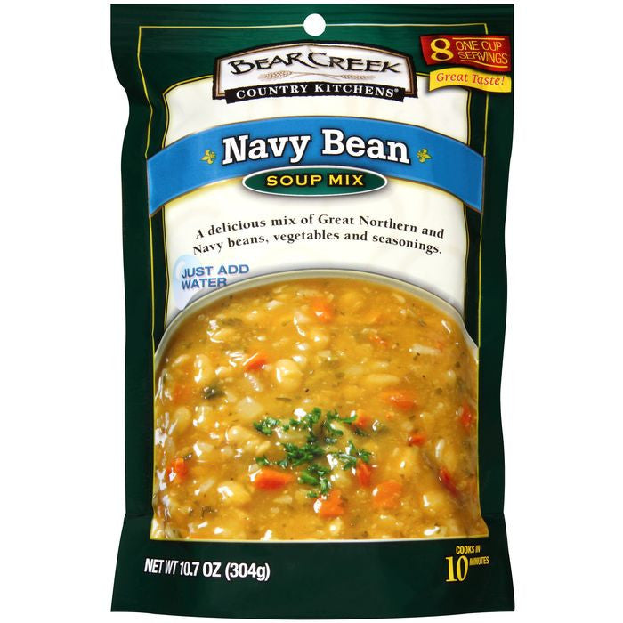 Bear Creek Country Kitchens Navy Bean Soup Mix 10.7 Oz (Pack of 6)