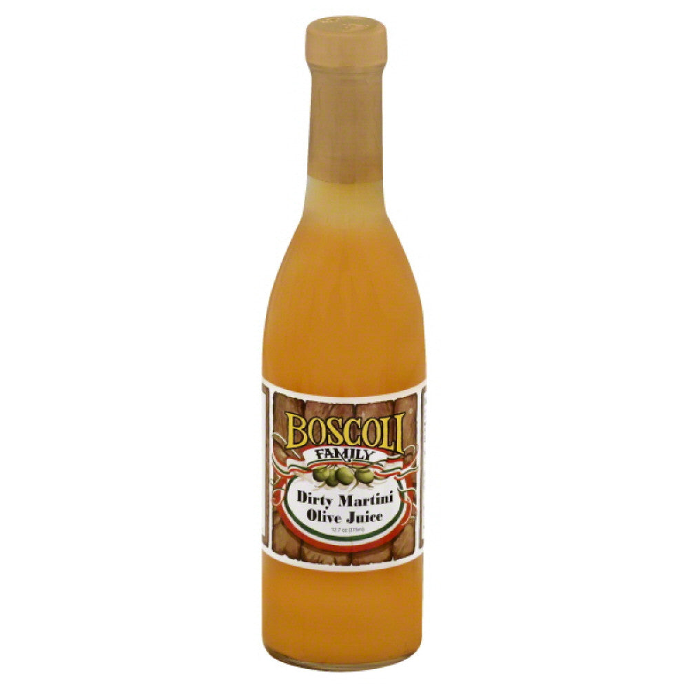Boscoli Dirty Martini Olive Juice, 12.7 Oz (Pack of 12)