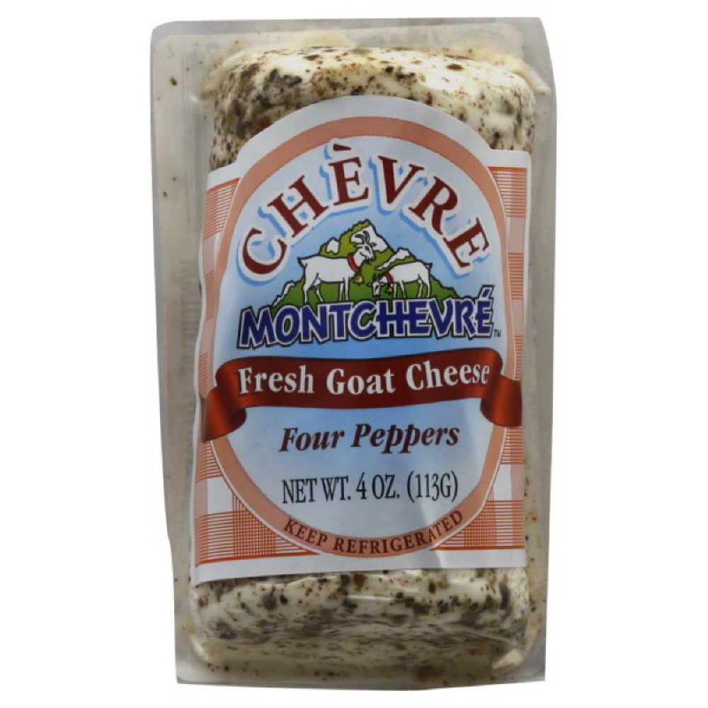 Chevre Four Peppers Fresh Goat Cheese, 4 Oz (Pack of 12)