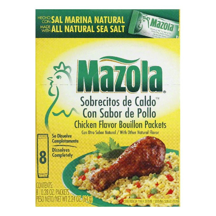 Mazola Packets Chicken Flavor Bouillon, 8 ea (Pack of 12)