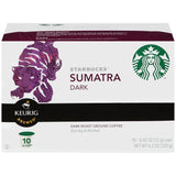 Starbucks Sumatra Dark Roast Ground Coffee 10 K-Cups (Pack of 6)