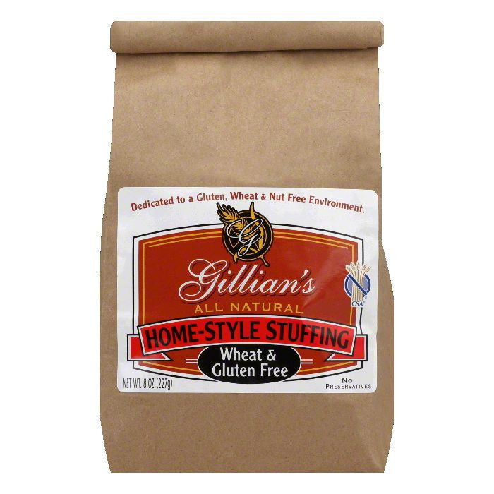 Gillian Foods Wheat Free & Gluten Free Stuffing, 8 OZ (Pack of 6)