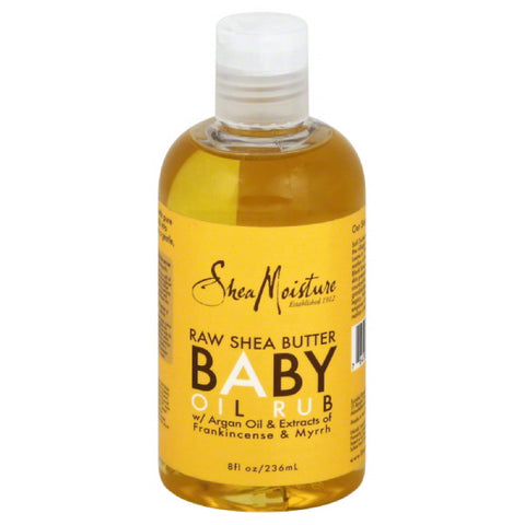 Shea Moisture Raw Shea Butter Baby Oil Rub, 8 Oz