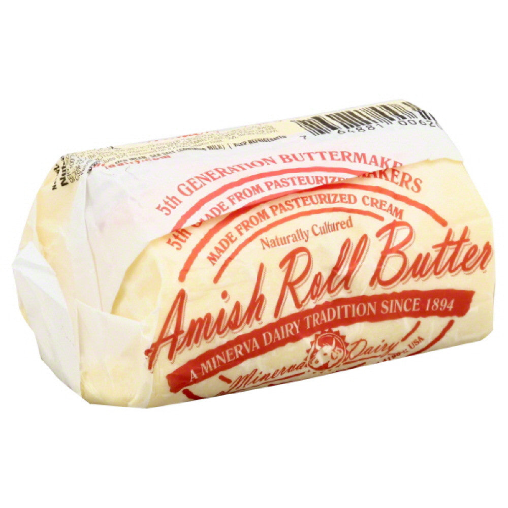 Minerva Dairy Amish Roll Butter, 2 Lb (Pack of 6)