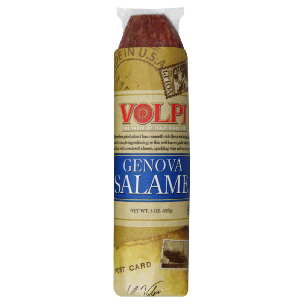 Volpi Genova Salame, 8 Oz (Pack of 12)