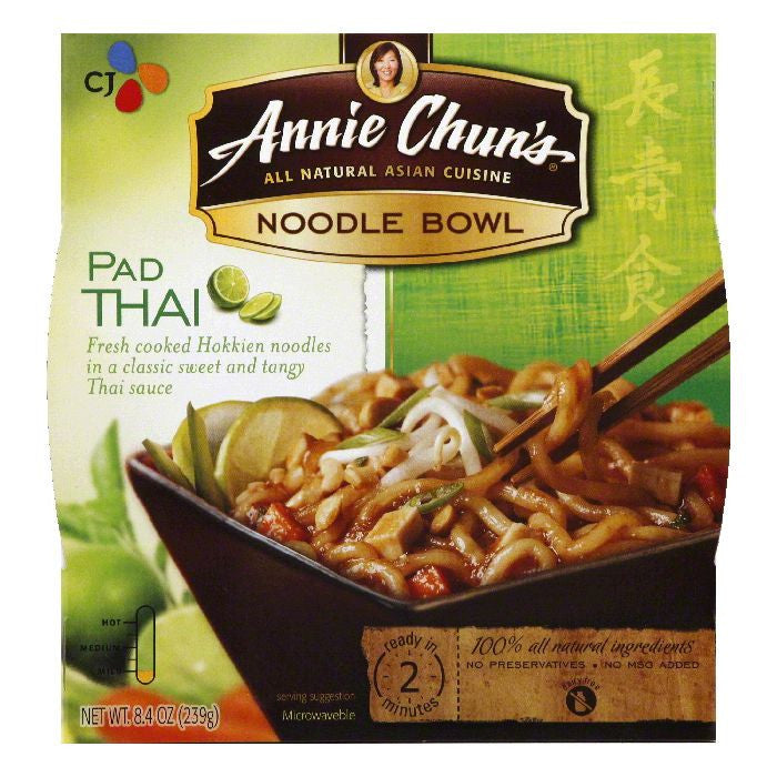 Annie Chuns Pad Thai Noodle Bowl, 8.4 OZ (Pack of 6)