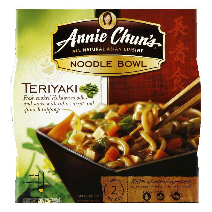 Annie Chuns Noodle Bowl Teriyaki, 7.8 OZ (Pack of 6)