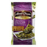 Annie Chuns Cracked Pepper & Herbs Roasted Seaweed Snacks, 0.35 Oz (Pack of 12)