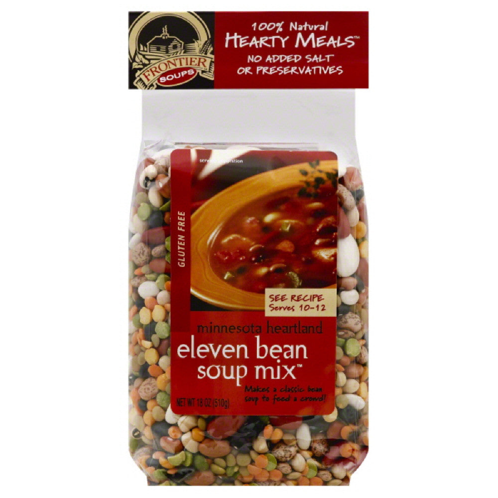 Frontier Soups Gluten Free Eleven Bean Soup Mix, 18 Oz (Pack of 8)