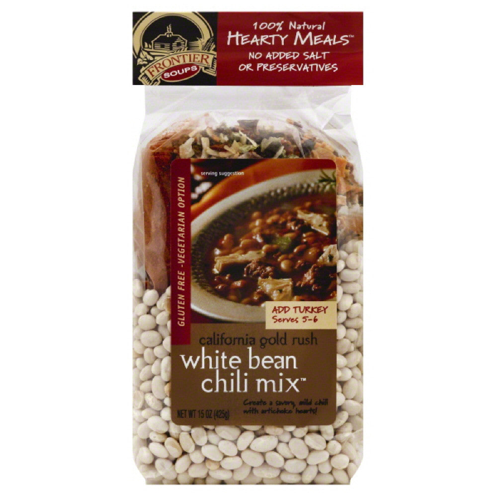 Frontier Soups Chili Mix White Bean, 15 Oz (Pack of 8)