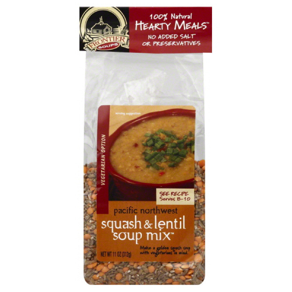 Frontier Soups Squash & Lentil Soup Mix, 11 Oz (Pack of 8)