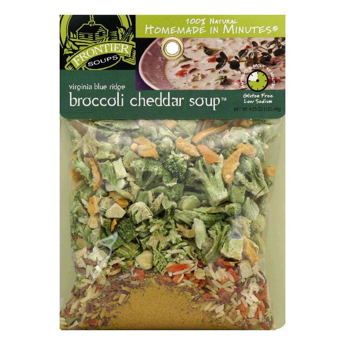 Frontier Soups Broccoli Cheddar, 4.25 OZ (Pack of 8)