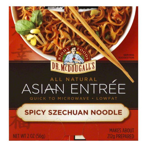 Dr. McDougall's Spicy Szechwan Noodles Entrees, 2 OZ (Pack of 6)