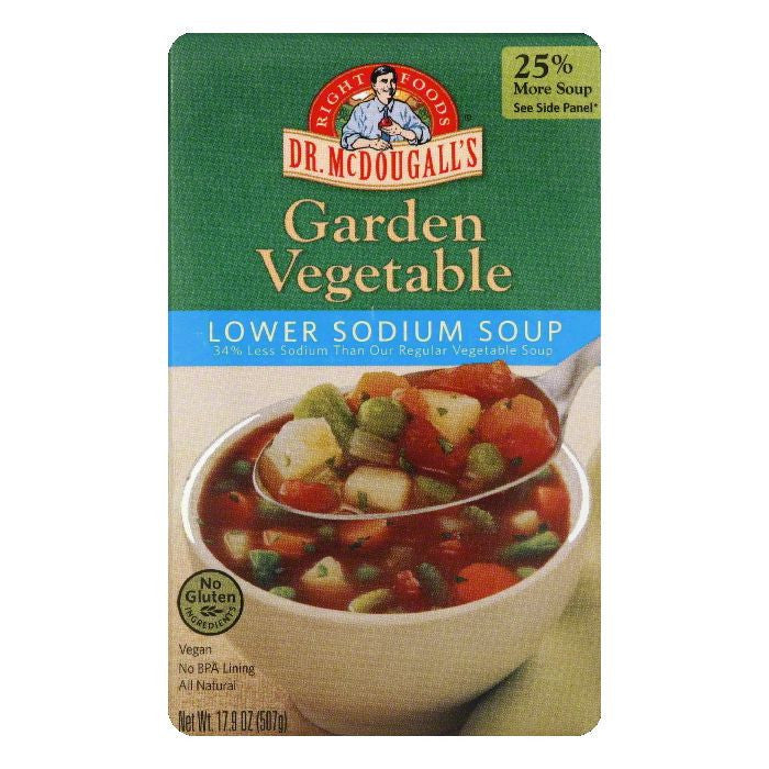 Dr. McDougall's Light Sodium Garden Vegetable Soup, 17.9 OZ (Pack of 6)