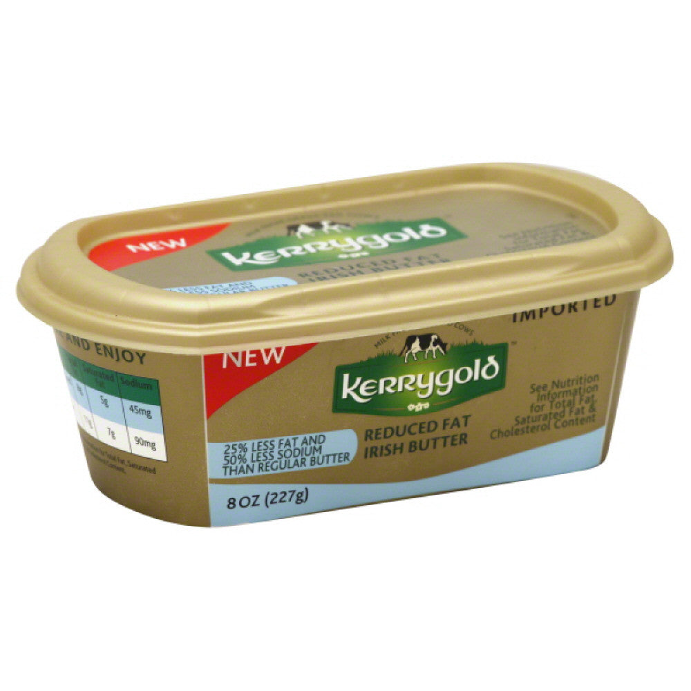 Kerrygold Reduced Fat Irish Butter, 8 Oz (Pack of 16)