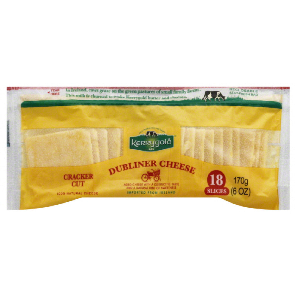 Kerrygold Dubliner Cracker Cut Cheese Slices, 6 Oz (Pack of 12)