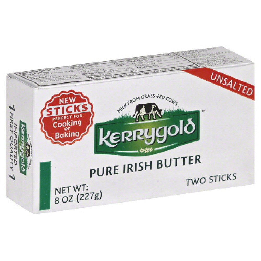 Kerrygold Unsalted Pure Irish Butter, 8 Oz (Pack of 20)