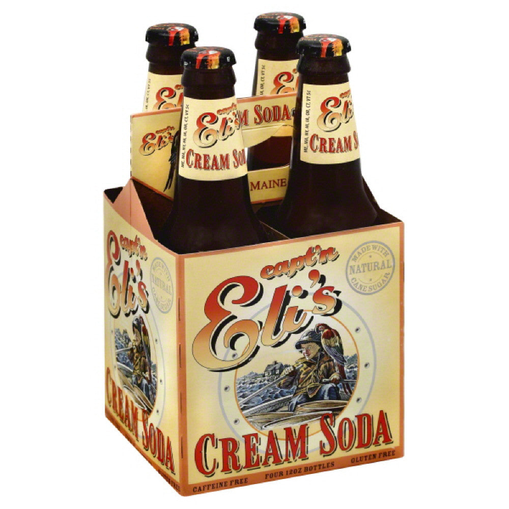 Captn Elis Caffeine Free Cream Soda, 48 Fo (Pack of 6)