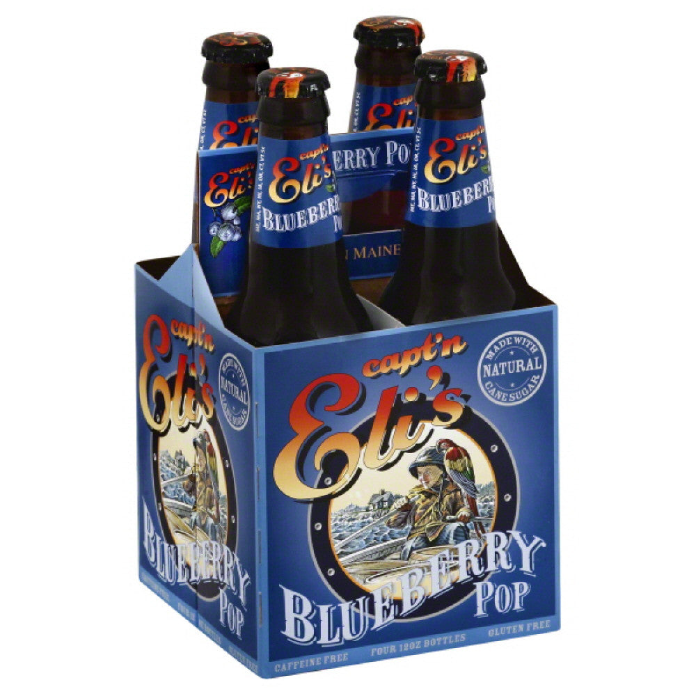 Captn Elis Caffeine Free Blueberry Pop Soda, 48 Fo (Pack of 6)