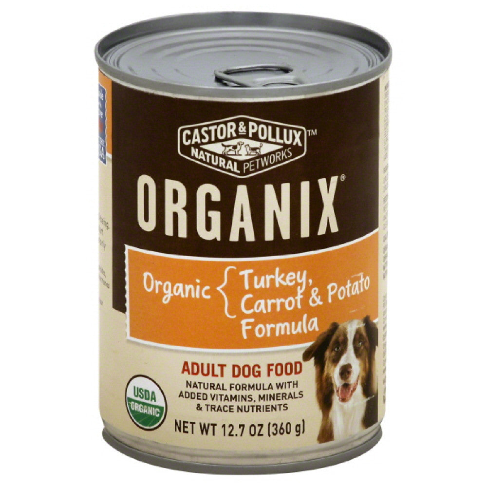Castor & Pollux Organic Carrot & Organic Potato Formula Organic Turkey Adult Dog Food, 12.7 Oz (Pack of 12)