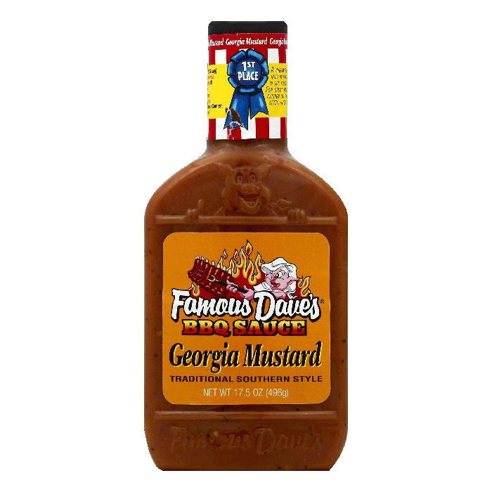 Famous Daves Traditional Southern Style Georgia Mustard, 17.5 OZ (Pack of 12)