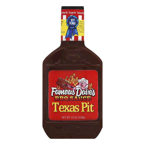 Famous Dave's BBQ Sauce Texas Pit, 19 OZ (Pack of 12)