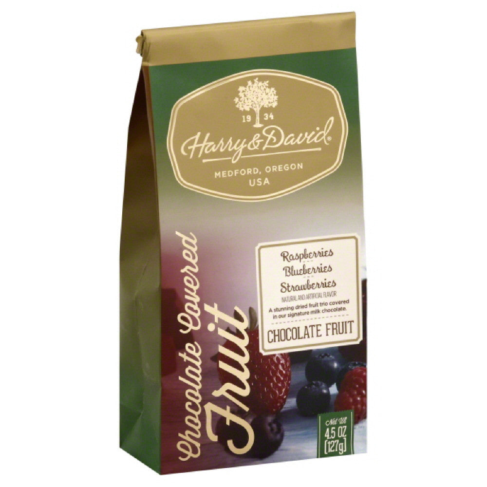 Harry & David Strawberries Blueberries Raspberries Chocolate Covered Fruit, 4.5 Oz (Pack of 6)