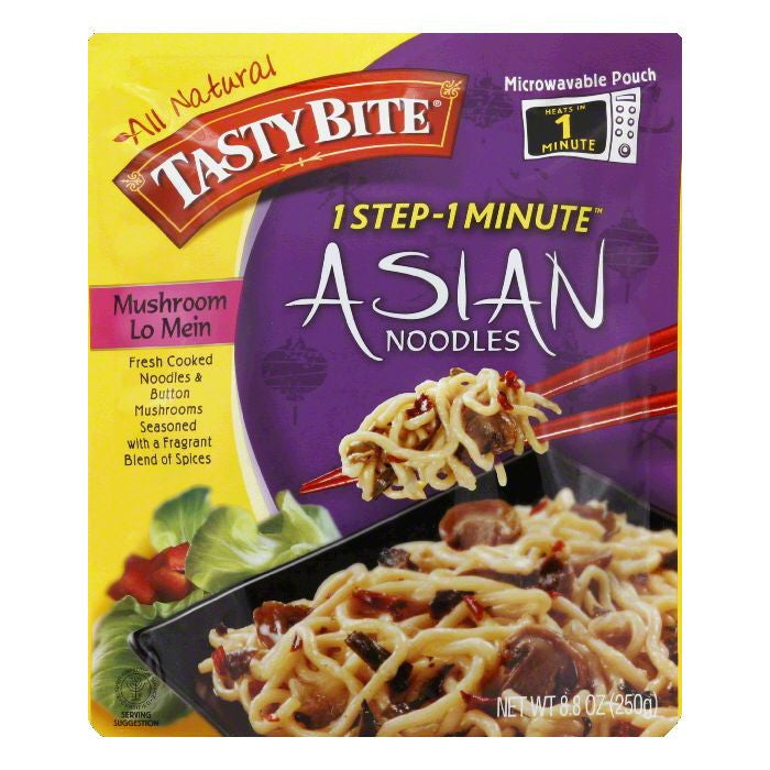 Tasty Bite Mushroom Lo Mein Asian Noodles, 8.8 Oz (Pack of 6)
