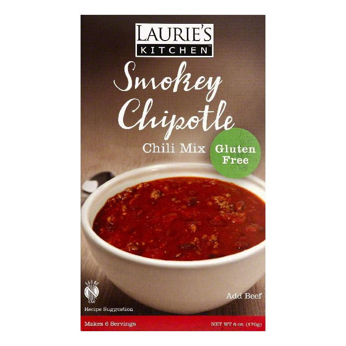 Lauries Kitchen Smokey Chipotle Chili Mix, 6 OZ (Pack of 6)