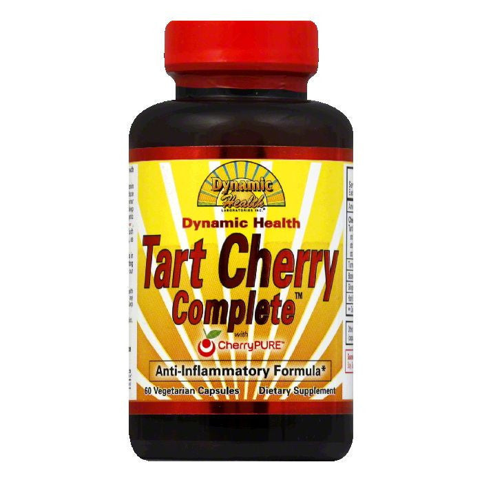 Dynamic Health Vegetarian Capsules with CherryPure Tart Cherry Complete, 60 ea