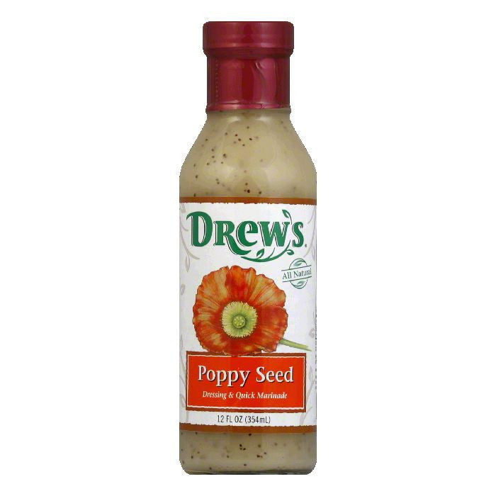 Drew's Dressing & Marinade Poppyseed, 12 OZ (Pack of 6)