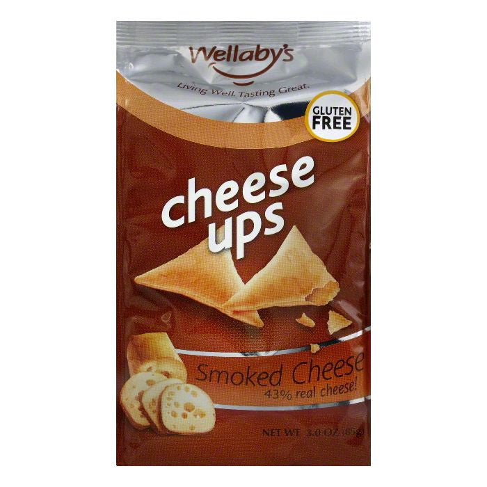 Wellabys Cheese Ups Smokehouse Cheese, 3 OZ (Pack of 6)
