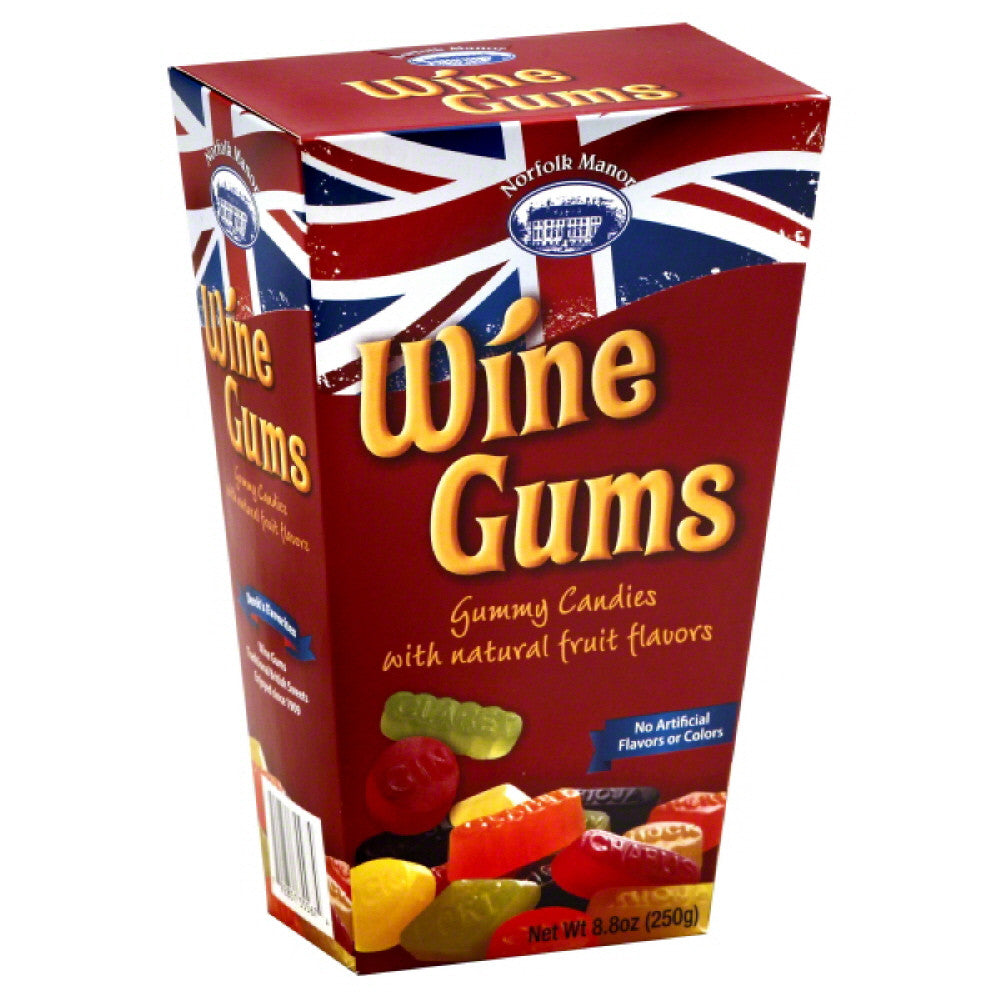 Norfolk Manor Gummy Candies Wine Gums, 8 Oz (Pack of 12)