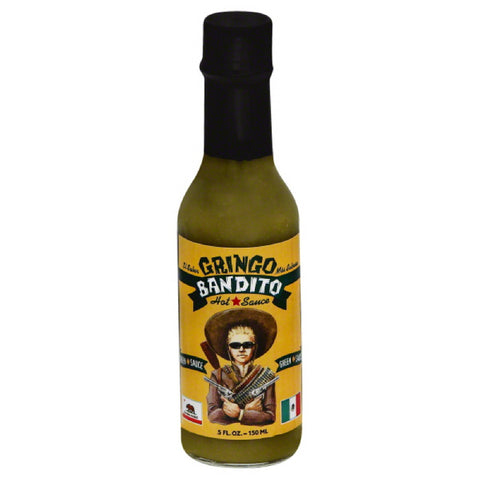 Gringo Bandito Green Hot Sauce, 5 Oz (Pack of 12)