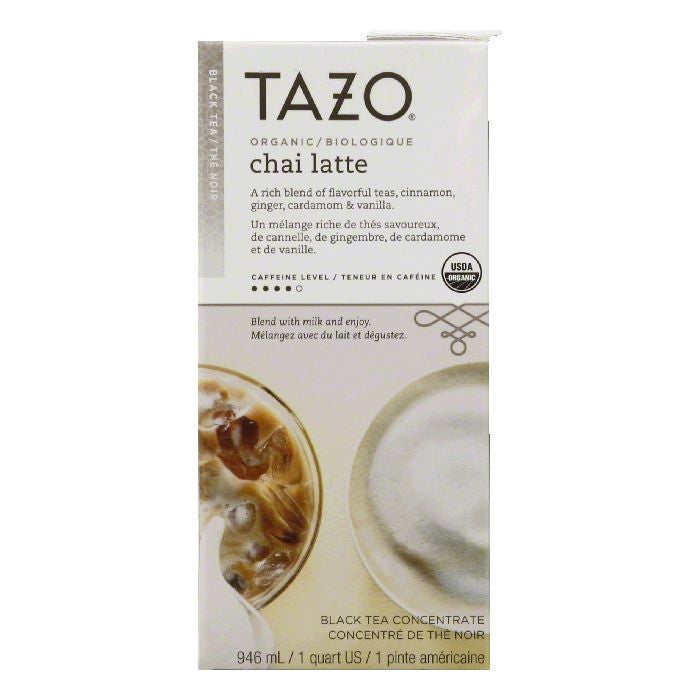 Tazo Tea Organic Chai Liquid Aseptic Pack, 32 FO (Pack of 6)
