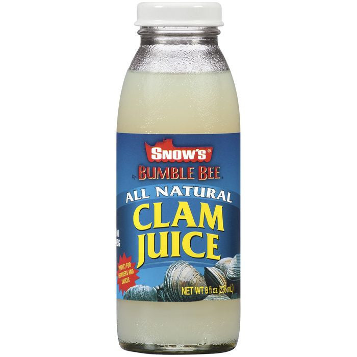 Snow's All Natural Clam Juice 8 Oz   (Pack of 12)